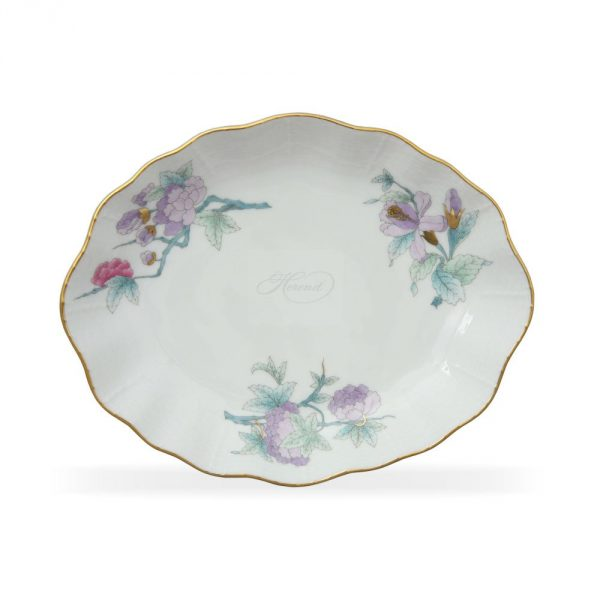 Oval Tray - Royal Garden Flower Blue
