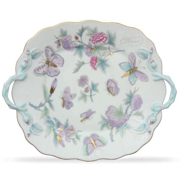 Cake Plate - Royal Garden Blue