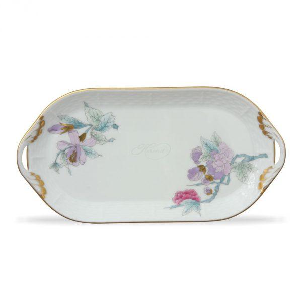 Sandwich tray - Royal Garden Flowers Blue