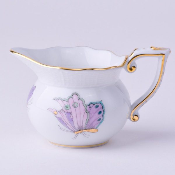 Creamer – Royal Garden - Herend Porcelain 644-0-00 EVICTP2 - Turquoise Butterfly