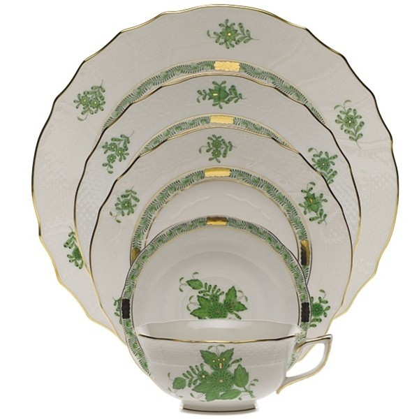 Place Setting - Chinese Bouquet Green