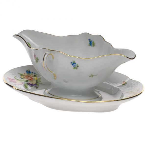 Gravy boat with stand - Queen Victoria