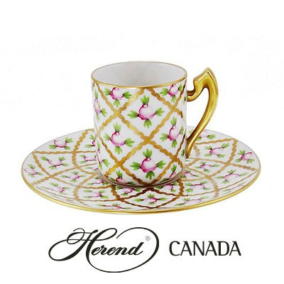Espresso Cup and Saucer - Petite Roses