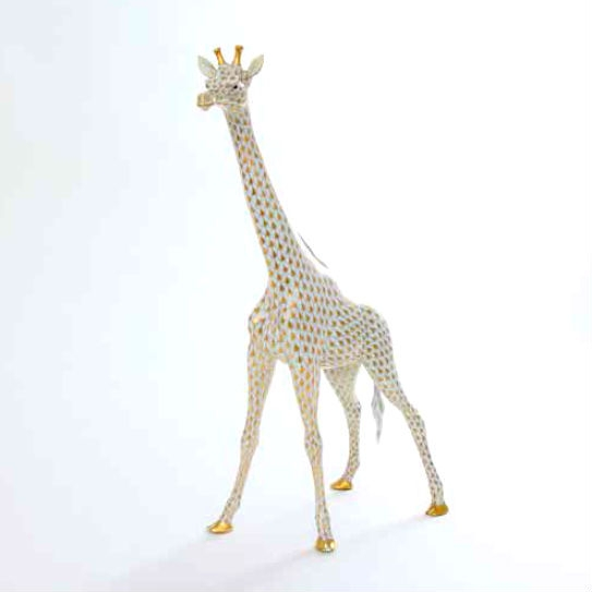 Large Giraffe - Gold Fishnet