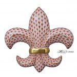 Fleur De Lis - Full Fishnet Red