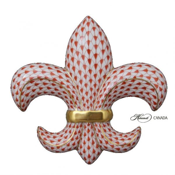 Fleur De Lis - Full Fishnet Red