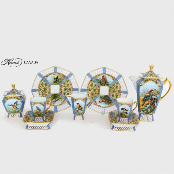 """Oiseaux chanteux"" Teaset for 2 - Limited Edition: 50 pcs."