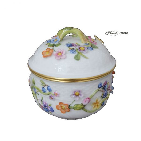 Sugar basin with flower applications