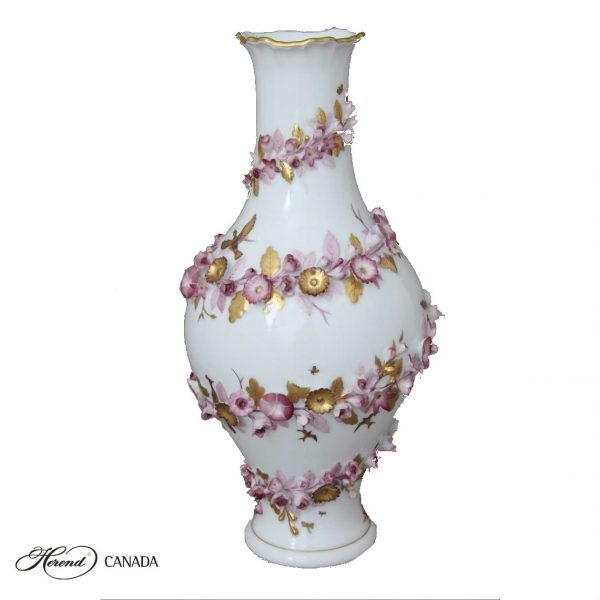 Vase w. flower applications - Limited to 50 pcs.