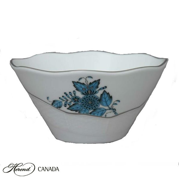 Large Cereal Bowl - Chinese Bouquet Turquiouse Platinum
