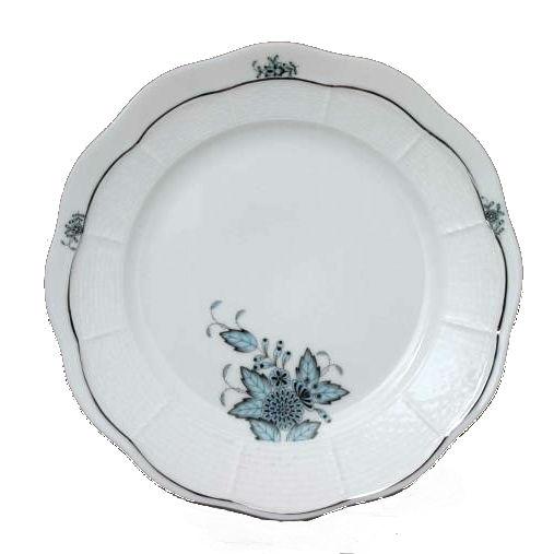 Dessert Plate - Chinese Bouquet Turquoise Platinum