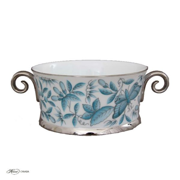 Bowl with 2 handles - Zoo Garden Turquoise