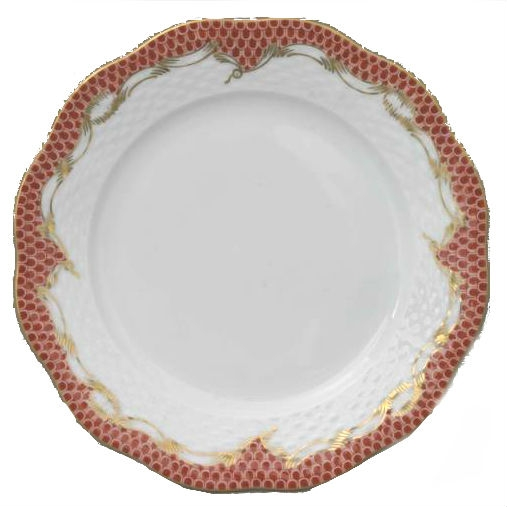 Salad Plate - Chinese Bouquet Rust