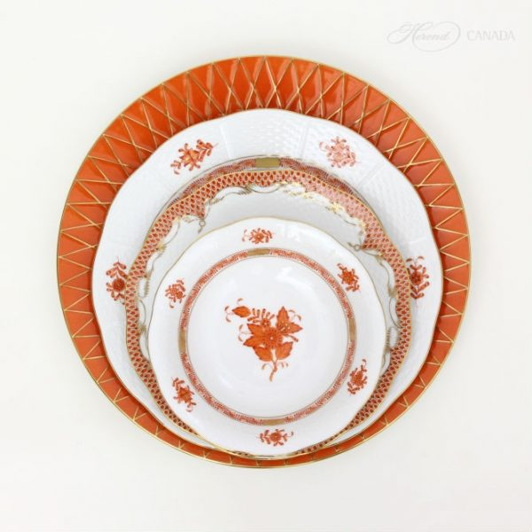 Chinese Bouquet Rust Set - Herend Colours