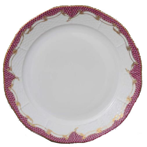 Dinner Plate - Fishnet Edge Pink