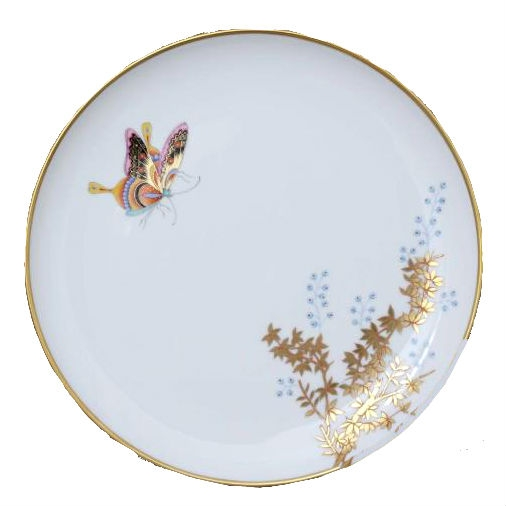 Dinner Plate - Bamboo & Butterfly