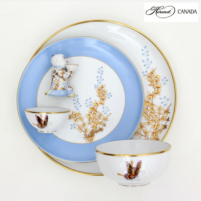 Bamboo & Butterfly Set - Herend Colours