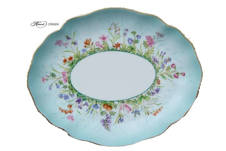 Oval dish - Bamboo & Butterfly