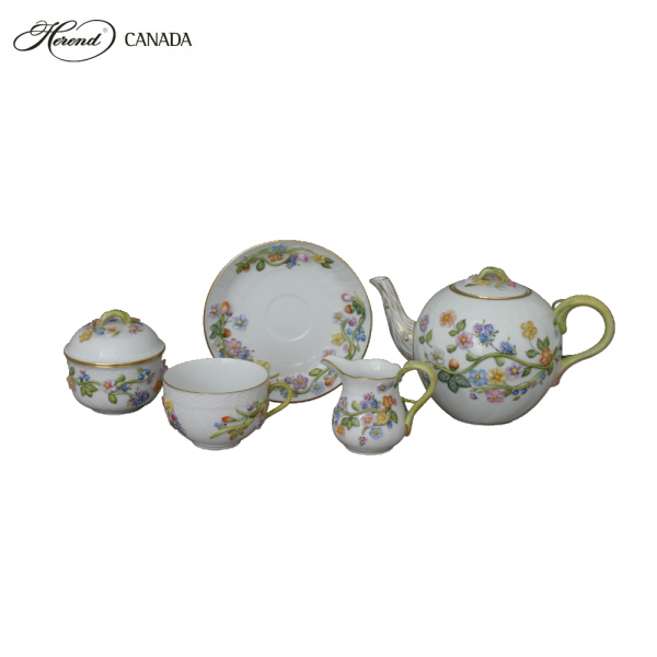 Fleuraison Teaset for 2 (Natural Edition)