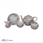 Teaset for 2 w. flower applications - Limited Edition to 50 pcs.