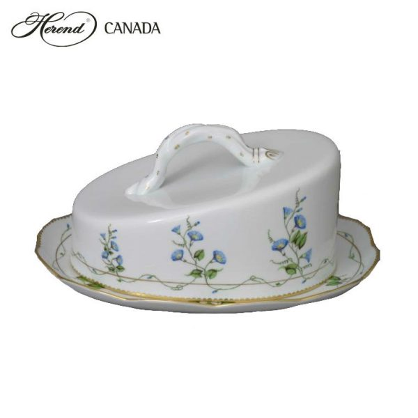 Cheese Dish, branch knob - Chinese Bouquet Rust