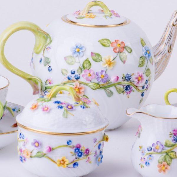 Flower-tea-set-Herend-Fleuraison