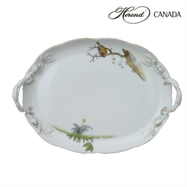 Oval Tray w. Handle - Dream Garden