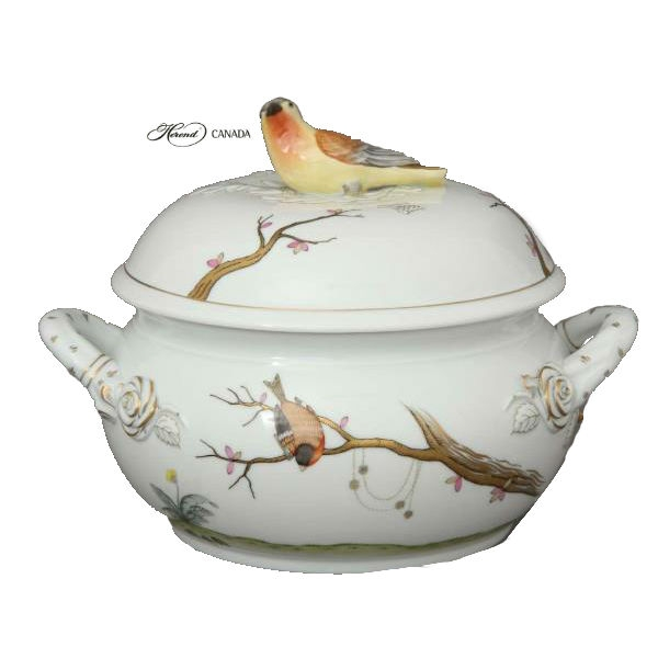 Soup tureen, dolphin knob - Dream Garden