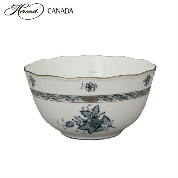 Round bowl - Chinese Bouquet Turquoise Platinum
