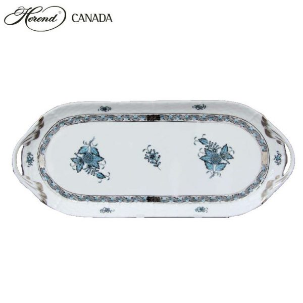 Sandwich tray - Chinese Bouquet Turquoise Platinum