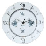 Wall Clock - Chinese Bouquet Turquoise Platinum