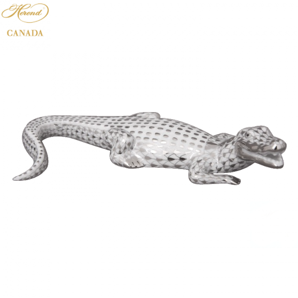 Small Alligator - Fishnet Platinum