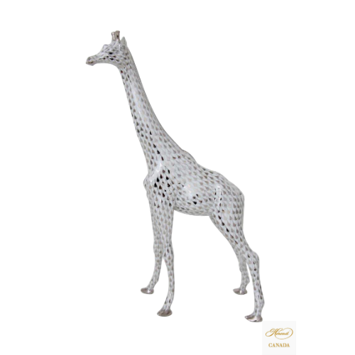 Giraffe, Large - Fishnet Platinum