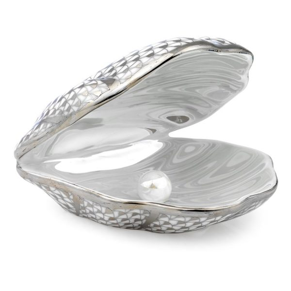 Shell with Pearl - Fishnet Platinum