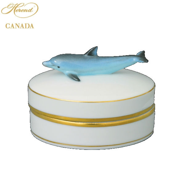 Fancy Box - Dolphin Knob - Assorted Decors