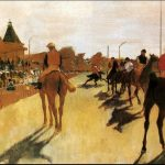 Vase - Degas - Horses Before the Stands