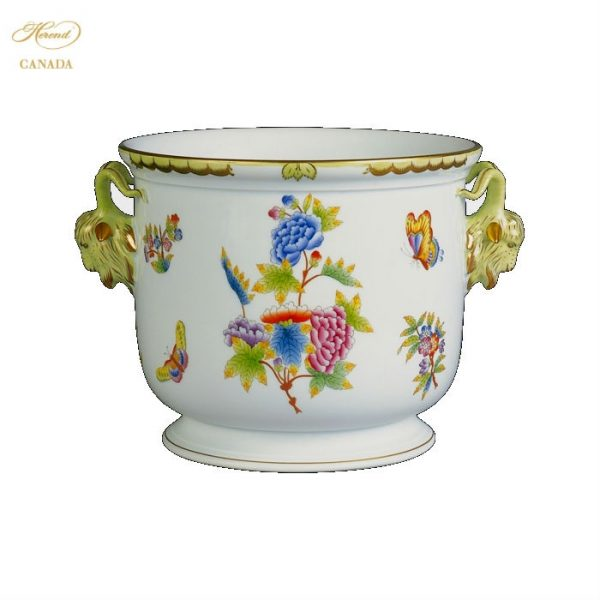 Large Cachepot w. twisted handle (Assorted Decors)