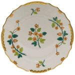 Dinner Plate - Chinese Bouquet Rust
