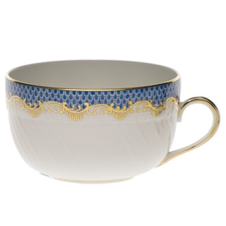 Teacup and Saucer - Fish Scale Colors