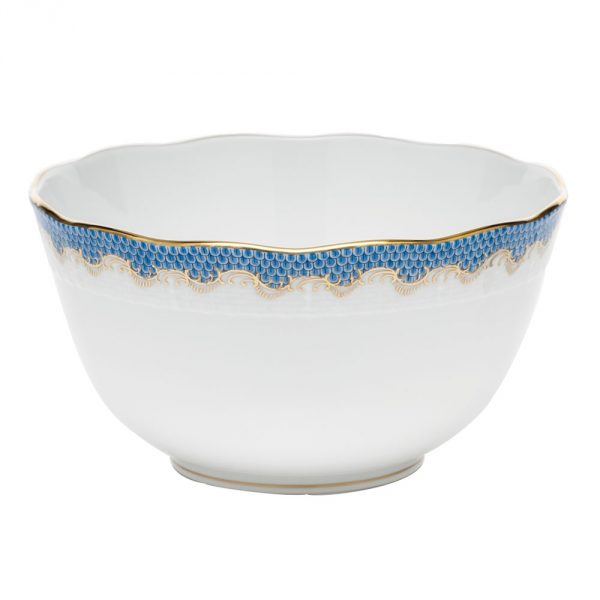 Round bowl - Fishnet Scale Blue