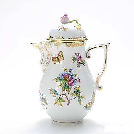 Coffeepot, rose knob - Queen Victoria
