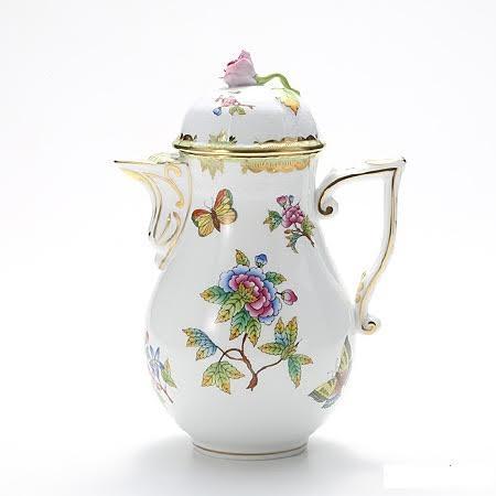 Coffeepot, rose knob - Queen Victoria