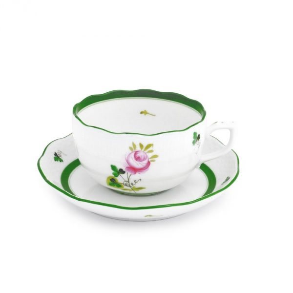 Teacup and Saucer- Vienna Rose
