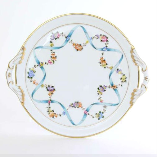 Cake Plate - Ribbon Flower