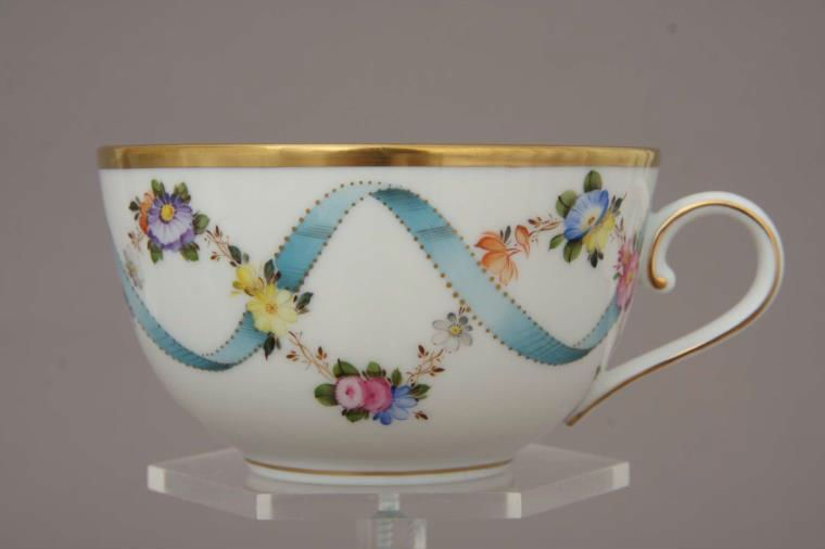 Teacup and Saucer - Ribbon Flower