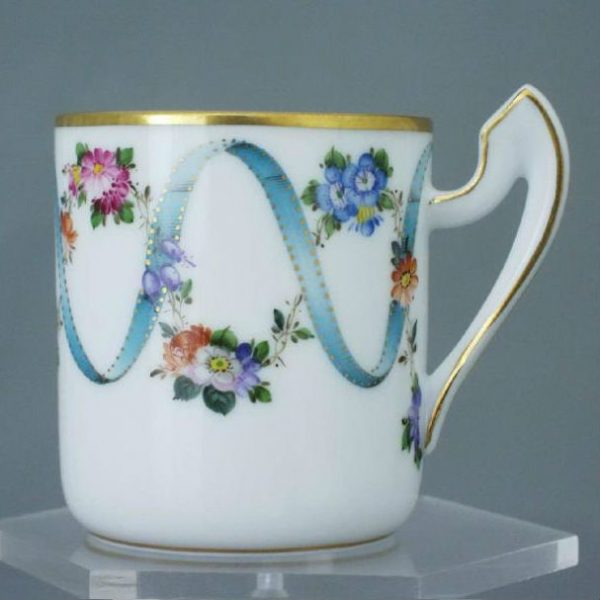 Espresso Cup and Saucer - Ribbon Flowers