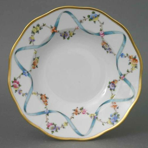 Soup Plate - Ribbon Flower