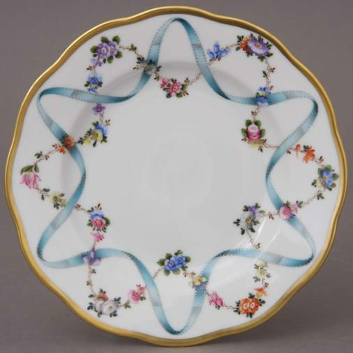 Bread & Butter Plate - Ribbon Flower