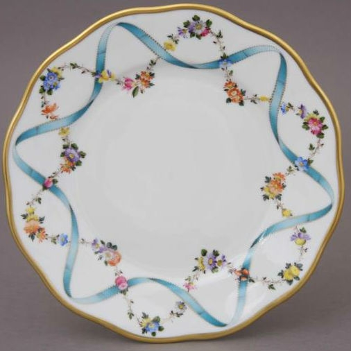 Dinner Plate - Ribbon Flower