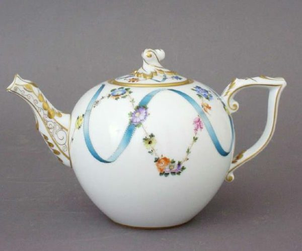 Teapot, Bird knob - Ribbon Flower